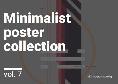 Minimalist poster collection – Experiments Vol. 7